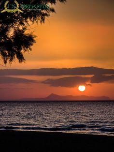 Sunset over the Akrotiri...