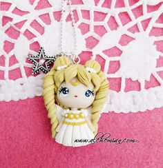 fimo/polymer clay/cernit/ pasta doll, gift, present, handmade accesories Polymer Clay Disney, Polymer Clay Figures, Polymer Clay Christmas, Polymer Clay Dolls, Polymer Clay Pendant, Polymer Clay Charms, Polymer Clay Creations, Clay Projects, Clay Crafts