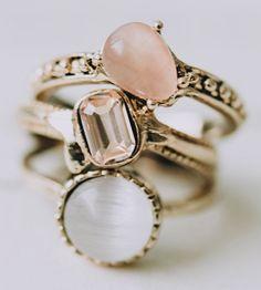 Crystal vintage rings
