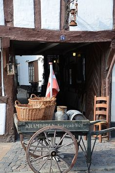 Kramboden #Odense #Funen #Denmark. A shop in the old part of town, filled with all sort of old school things!