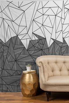 designer tapeten sofa grafisch leder beige