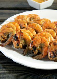 Grilled Jamaican Jerk Shrimp with Mango Chutney