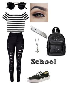 """School"" by jaysilva ❤ liked on Polyvore featuring Alice + Olivia and Vans"