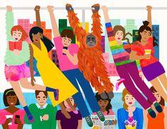 Kitkat Pecson – Straphangers  Tags: illustration, nyc illustration, colorful, nyc art, new york city