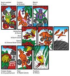 (Hanafuda, Hwatu) Animal cards