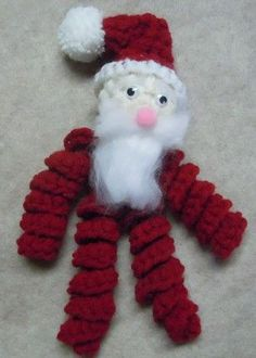how to make a Santa ornament - Christmas crochet pattern