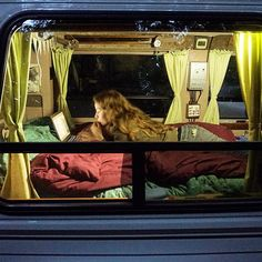 Danielle doing some late night writing in the van - we're both feeling so inspired by the places and people we've seen on this #vanlife #adventure so far  #exploringalternatives #vanlife by exploring alternatives  ~  For more van life pics follow me on Instagram @van.crush https://www.instagram.com/van.crush/