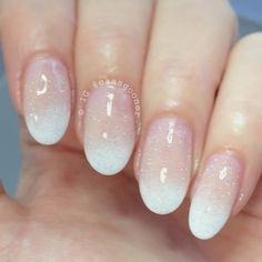 french gradient tips topped with @chinaglazeofficial fairy dust. - nailart / manicure: Cassie (@cassgooner) #nails