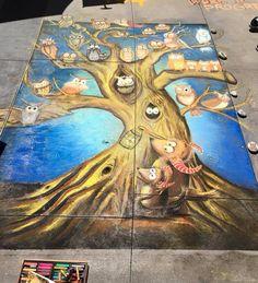 Jen swain chalk mural Paseo Colorado Pasadena Chalk Festival Chalk Festival, Chalk Drawings, Colorado, Painting, Art, Art Background, Aspen Colorado, Painting Art, Kunst