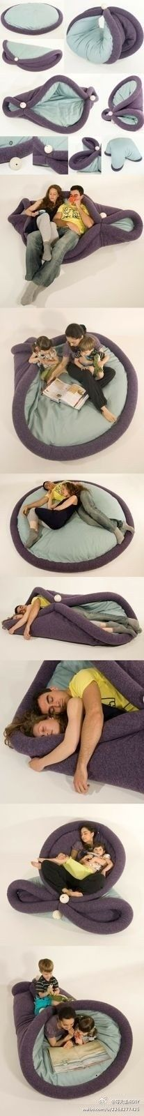 This is the weirdest, most versatile pillow I have ever seen. I think it is kind of neat.