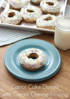Carrot Cake Donuts with Cream Cheese Frosting from @akitchenaddict