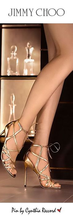 Jimmy Choo | The Golden touch: Step out this #fridaynight in the TESS caged sandal | cynthia reccord