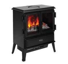 Dimplex Oakhurst Electric Stove Black Opti-Myst Log Effect - Remote Control Electric Fires, Electric Stove, Dimplex Fires, Fireplace Stores, Portable Stove, Stove Heater, Fire Surround, Real Fire