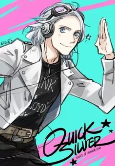 Quicksilver fanart-So here! I think this is actually a show of some sort but it looks like a humanized Silver the Hedgehog.
