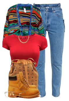"""90's Kind of world"" by cheerstostyle ❤ liked on Polyvore featuring Vetements, MCM and Timberland"
