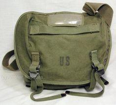 1967 US Military Army USMC Vietnam War M1961 Canvas Combat Field Butt Pack OD   eBay