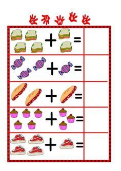Image result for sustracción matematica para aprendizaje visual autismo