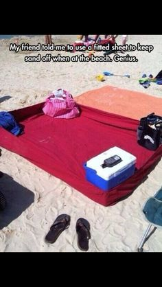 A fitted sheet to keep all the sand out. Wish I knew this years ago!