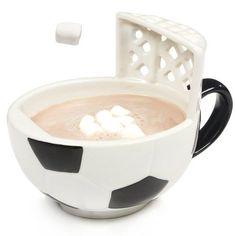 A #soccer mug with a goal.