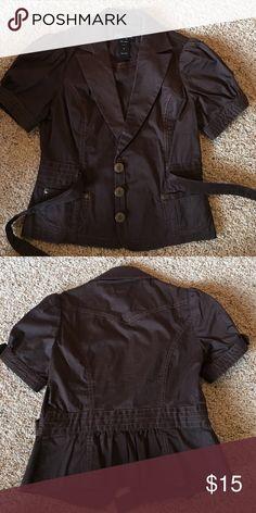 London Jean Jacket Chocolate brown jacket with cute details on it. London Jean Jackets & Coats Jean Jackets