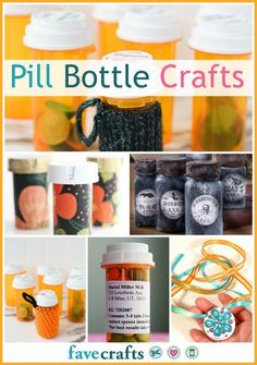 Pill Bottle Crafts: Reuse Pill Bottles with this Crafty Guide [10 Ideas] Empty Medicine Bottles, Pill Bottle Crafts, Reuse Pill Bottles, Medicine Bottle Crafts, Recycled Bottles, Plastic Bottles, Bottle Art, Upcycled Crafts, Diy Crafts