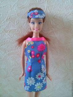 Одежда для кукол ручной работы. Летний сарафан для Барби. Надежда. Ярмарка Мастеров. Летнее платье для куклы, репсовая лента