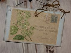 Romantic wooden sign Vintage Post Card Shabby Chic by Fannypippin,