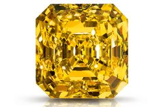 The Delaire Sunrise The Largest square emerald cut fancy vivid diamond in the world