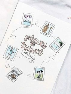 travel idea inspiration bullet journal travel wish list This could be a really cute travel journal inspiration page. Bullet Journal Voyage, Bullet Journal Travel, Bullet Journal 2019, Bullet Journal Hacks, Bullet Journal Notebook, Bullet Journal Aesthetic, Bullet Journal Spread, Bullet Journals, Travel Journals