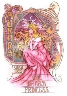 Love the Art Nouveau line from Disney