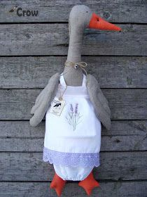 Country Crow: Goose Bag Holder + FREE PATTERN ❤ Гусь Пакетница + ВЫКРОЙКА