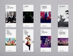 Flexible systems allows each brochure its own personality, while maintaining brand consistency – Opera Australia identity by Interbrand Sydney Layout Design, Design Logo, Design Poster, Print Layout, Identity Design, Banner Design, App Design, Print Design, Design Art