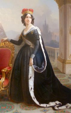 Maria Carolina of Austria Teschen   Archduchess Maria Karolina was probably portrayed in the middle 1860s based on the tight sleeves.
