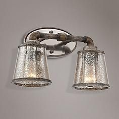"Bathroom Lights Rusting kichler braelyn 24"" wide olde bronze 3-light bath light 