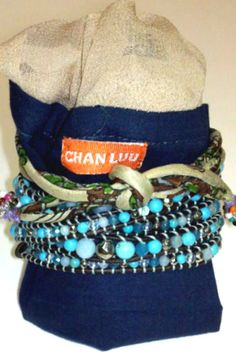 33 inch 5 Wrap Bracelet with Graduated Turquoise and Mixed Stones