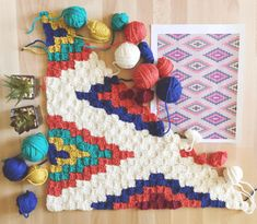 Southwestern Style Crochet Throw - Stuff Steph Makes Crochet C2c, Pixel Crochet, Crochet Afgans, Crochet Motifs, Crochet Quilt, Tapestry Crochet, Crochet Chart, Crochet Home, Love Crochet
