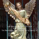 Anjo Gabriel de parede 72 cm Glória à Deus, nas alturas ! AnjoGabriel #Anjo #Anjos #ArcanjoGabriel #Arcanjo #Gabriel #Arcanjos #Imagem #Imagens #Sacras #Sacra #Santo #Santos #Santa #Santas #Catolico #Catolicos #Catolica #Catolicas #IgrejaCatolica ArtCunha #Artesanato em #Gesso #RioDeJaneiro - Fabrica e Restaura. Pecas, artefatos, estatuas e imagens sacras. Com ou sem pintura. Est. Bandeirantes, 829, Taquara, #Rio de Janeiro, RJ. Tel:(21)2445-1929 / 8558-3595.