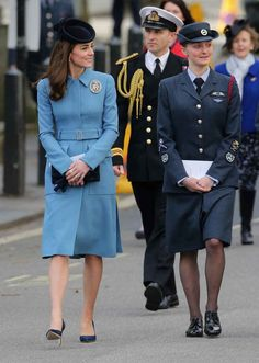 Kate Middleton at the service of the 75th Anniversary of the RAF Air Cadets at St Clement Danes Church in London on Sunday. Photo: Chris Jackson/Getty Images