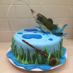 8th Birthday, Birthday Cakes, Decorated Cakes, Cake Tutorial, Butter Dish, Cake Ideas, Cake Decorating, Fish, Foods