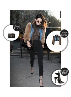 Kendall Jenner  Paris, France - seen in Sonia Rykiel and carrying Gucci. #gucci #soniarykiel  #kendalljenner @mode.ai