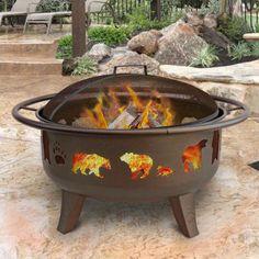 Landmann Patio Lights Firedance Bear and Paw Fire Pit - 23875