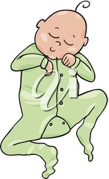 Royalty Free Clipart Image of a Sleeping Baby