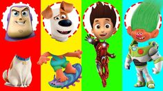 Wrong Heads Paw Patrol Dreamcast Trolls Superhero Toy Story Finger Famil...
