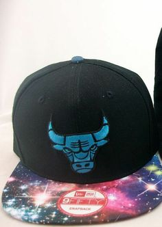 CHICAGO BULLS NBA SNAPBACK BLACK BLUE HAT GALAXY BRIM BASKETBALL  Snapback  Snapback Hats ca059755aa7e7