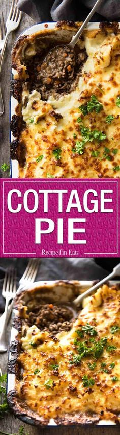 A classic, epic Cottage Pie! Ground beef (mince) in a beautiful gravy topped with mashed potato, baked to golden crusty perfection.recipetineats… Source by boysahoy Beef Recipes, Cooking Recipes, Welsh Recipes, Family Recipes, Recipetin Eats, Recipe Tin, Tasty, Yummy Food, Delicious Recipes