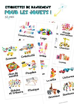 Can't stand toys and books everywhere in your house? Try these 34 toy storage ideas & kids room organization hacks to transform your kids' messy room. About Can't stand toys and books everywhere in your house? Kids Playroom Colors, Diy Toys Doll, Toy Labels, Montessori Education, Kindergarten Lesson Plans, Education Logo Design, Art Education, Printing Labels, Toy Storage