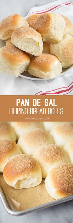 Pan de Sal (Filipino bread rolls)