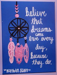 One Tree Hill canvas painting by kaylacarter23 on Etsy, $17.00