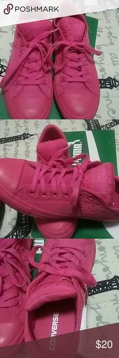 Pink converse low top Pink low top converse never worn dont have original box Converse Shoes Sneakers