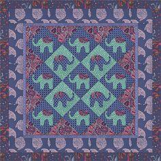 Bhandari Elephant Quilt from Victoria & Albert's Bhandari collection
